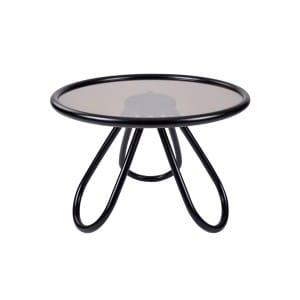 Arch Coffee Table Glas Top-Side Table-Gebruder Thonet Vienna-Front
