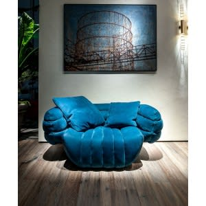 Baxter Tactile armchair blue