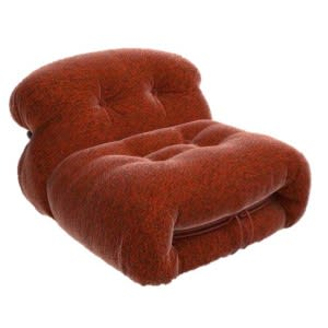 cassina soriana chair armchair red