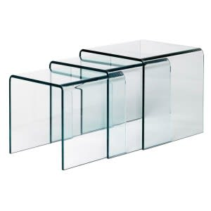 Curvi - Cristal transparent extralight-Side Table-Glas italia-Studio AE