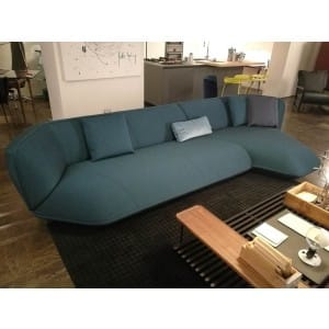 divano cassina floe insel blu cobalto