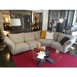 edra standard grey angular sofa
