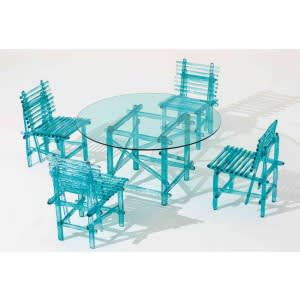 Edra A'Mare chair with table