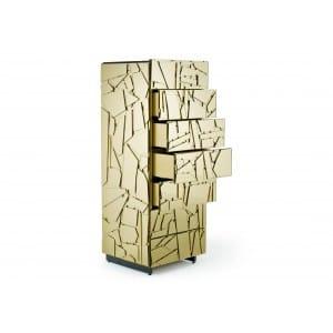 Edra Scrigno Sideboards gold