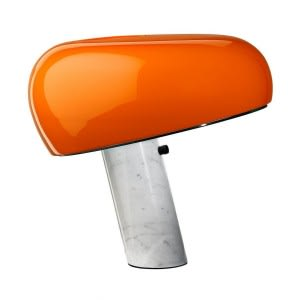 flos snoopy orange lamp castiglioni