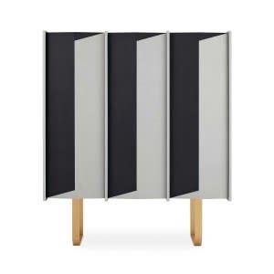 Gallotti&Radice Diedro sideboard black and white