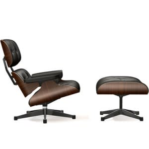 Lounge Chair & Ottoman-Lounge Chair-VItra-Charles & Ray Eames