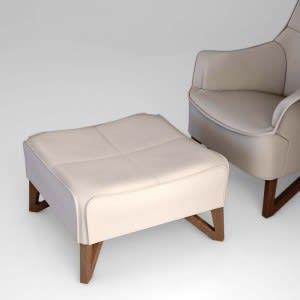 Mobius 62950 Saddle Leather Pouf-Ottoman-Giorgetti-Umberto Asnago