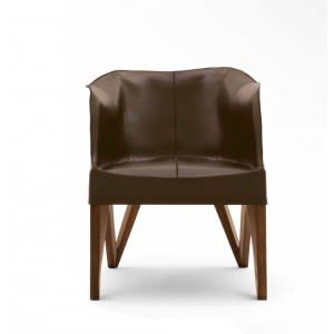 Mobius 62900 Saddle Leather Armchair-Armchair-Giorgetti-Umberto Asnago