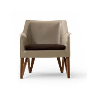 Mobius 62910 Saddle Leather Armchair-Armchair-Giorgetti-Umberto Asnago