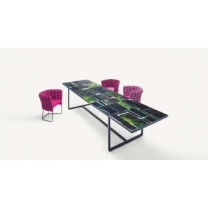paola lenti sciara table outdoor