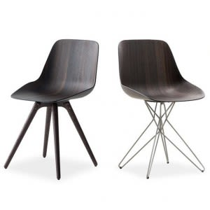 Poliform Harmony Chair metal and wood