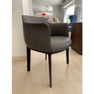 poltrona frau archibald dining chair leather