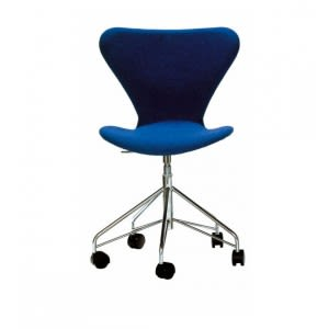 Series 7-3117-Padded- Swivel -Chair-Fritz Hansen-Arne Jacobsen
