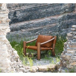 Tacchini Elephant armchair tan colour