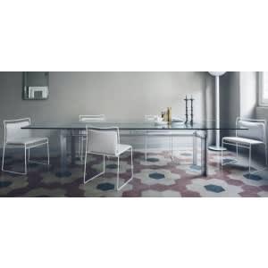 tavolo doge cassina alluminio lucido