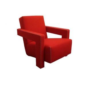 Utrecht Armchair Red-Armchair-Cassina-Gerrit T Rietveld
