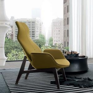 Ventura Lounge Armchair-Armchair-Poliform-Jean-Marie Massaud