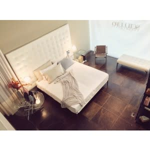 Volage Bed L27 Leather Headboard-Bed-Cassina-Philippe Starck