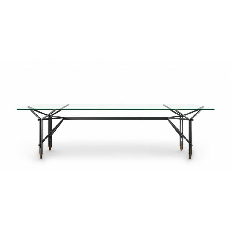 cassina olimpino table walnut black