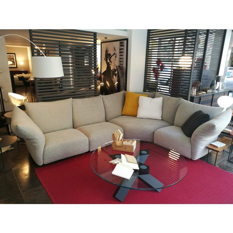 edra standard grey angular sofa