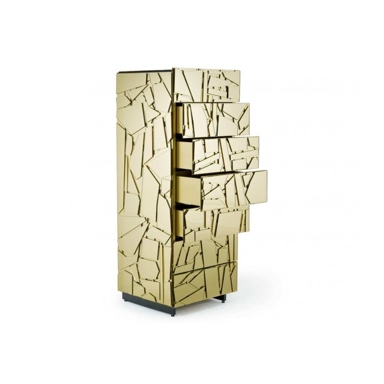 Edra Scrigno Sideboards gold