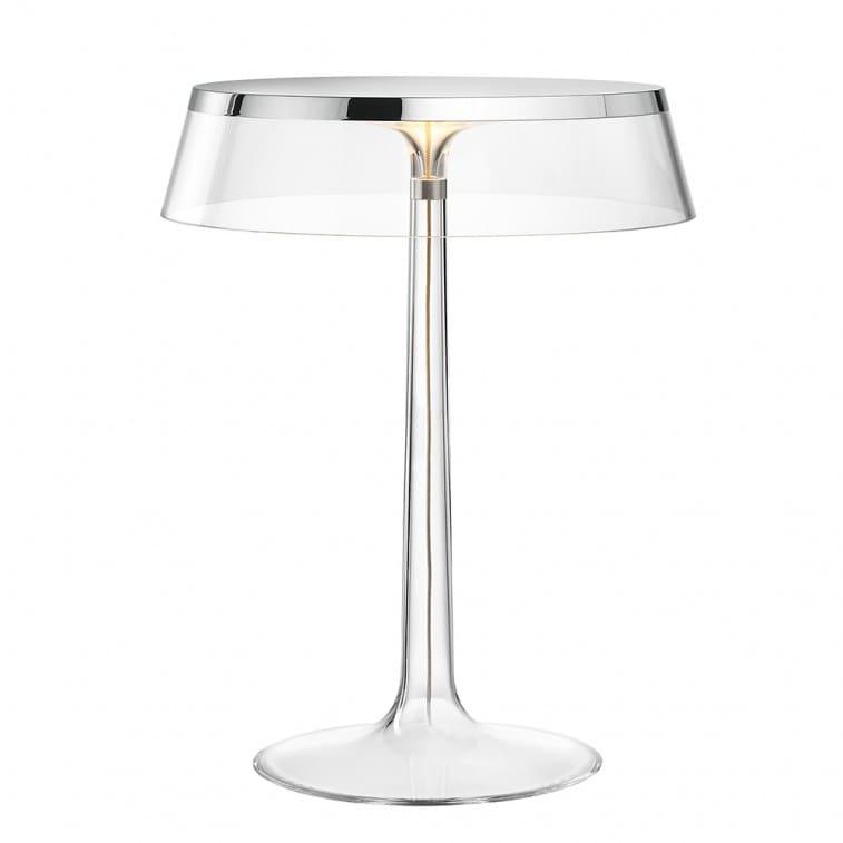 flos bon jour, table lamp, philippe starck, steel