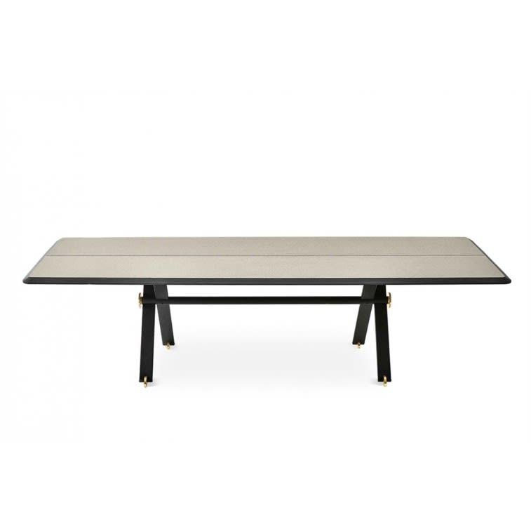 tavolo Maat Gallotti&Radice legno decorazione Tweed