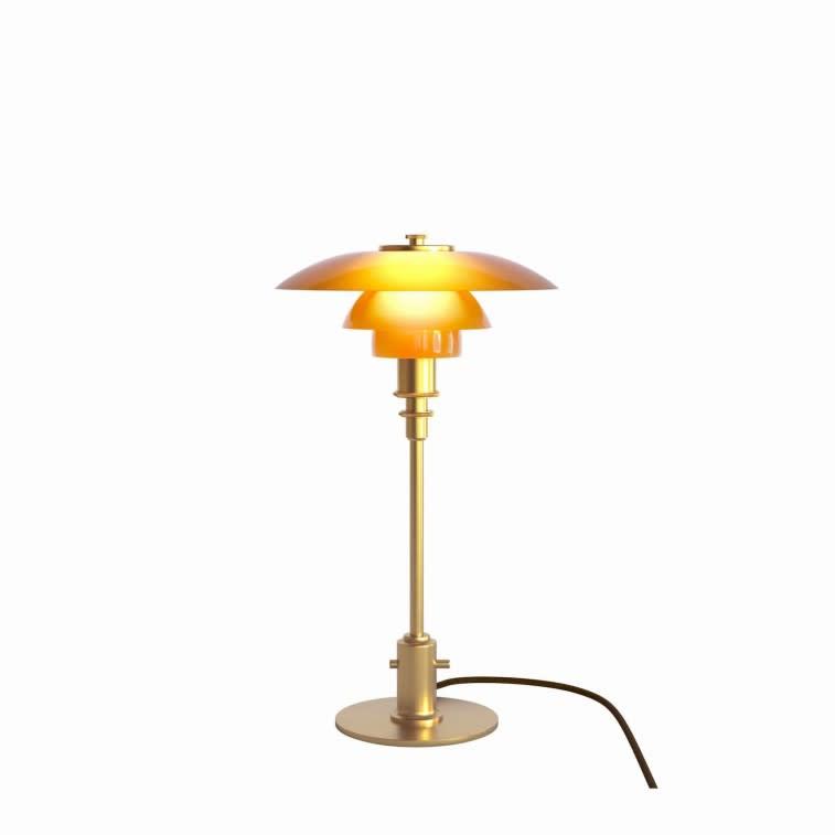 Louis Poulsen PH 2/1 amber glass table lamp