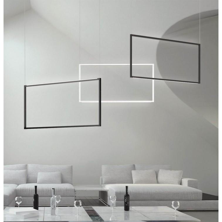 nemo spigolo black & white vertical ceiling light
