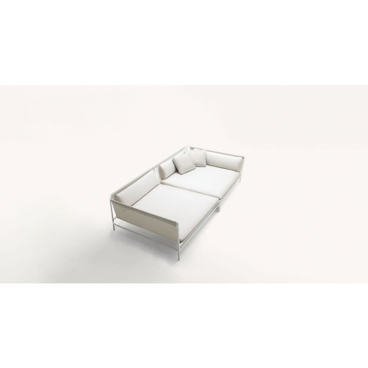 paola lenti canvas outdoor sofa