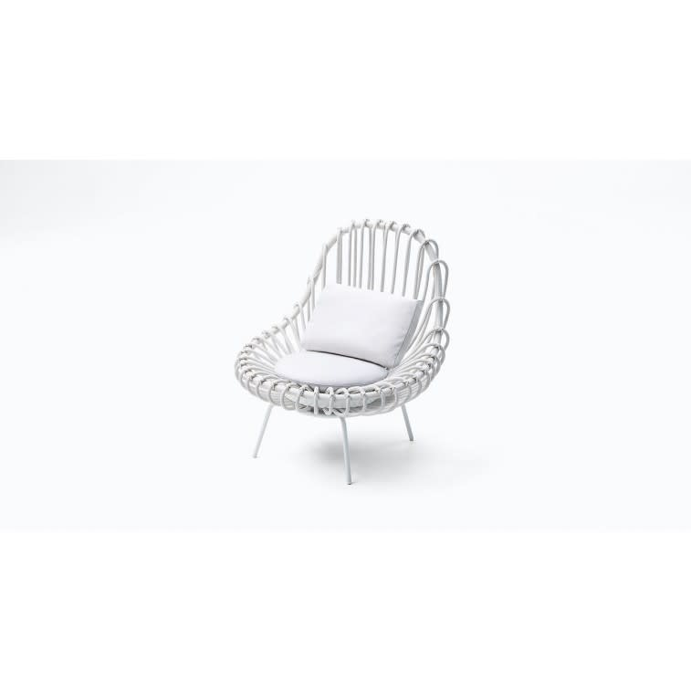 paola lenti giunco outdoor armchair