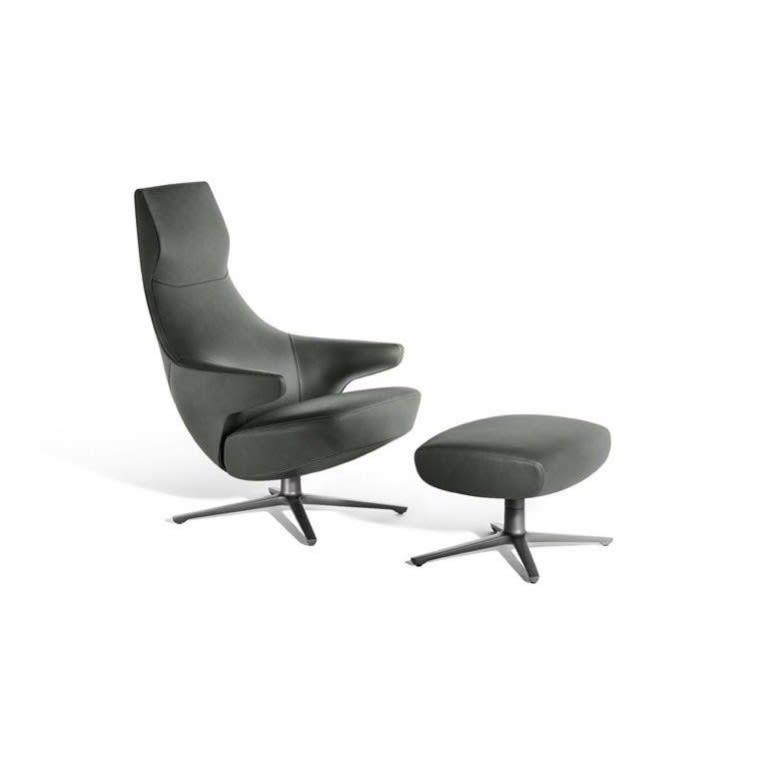 poltrona frau jay lounge chair and pouf