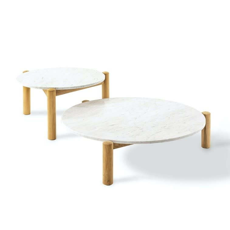 tavolino table à plateau interchangeable