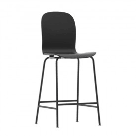 Sgabello Tate Color Cappellini nero