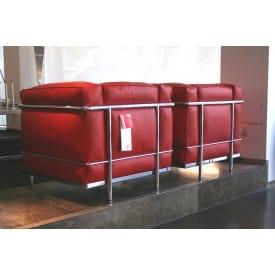Poltrona LC2 Pelle Rossa-Cassina