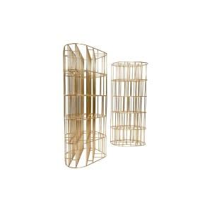 libreria Golden Cage Ceccotti ottone