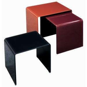Tavolino Curvi - Lucido-Glas italia