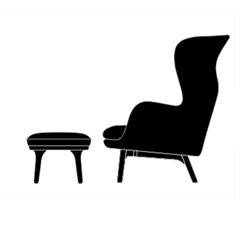 Ro Lounge Chair + ottomans - +$736.96