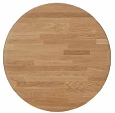 Natural oak round 90 cm - +$518.00