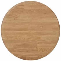 Natural oak round 60 cm - +$286.56
