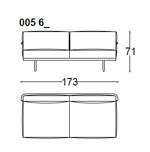 2 Seat - 173 cm