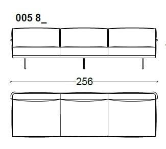 3 Seat - 256 cm