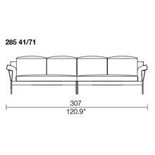 285 41/71 - 4 SEAT SOFA - width307 X depth 91cm - 2 Seat Pillow e 4 Backrest Pillow