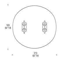Rectangular Table (306 x 102 h. 74 cm)