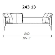 243 13 - 3 SEAT - 3 PILLOW - Width 242 x Depth 95 cm.