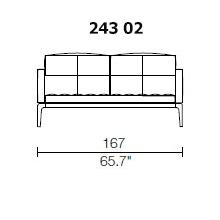 243 02 - 2 SEAT SOFA - Width 167 Depth 95 cm.