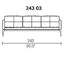 243 03 - 3 SEAT SOFA - Width 242 Depth 95 cm.