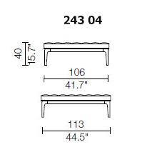 243 04 - POUF - 106 x 113 cm.