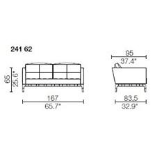 241 62 - 2 POSTI - Largh. 167 cm - Prof. 95 x h 65 cm
